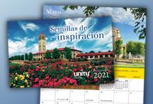 Unity 2021, Calendario edificante 2021, pequeño calendario de 12 meses para 2021, 2021 Calendar con versos bíblicos y afirmaciones, Calendario de pared Inspirador 2021