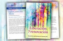 Lecturas para la Cuaresma 2021, afirmaciones y oraciones para la Cuaresma, folleto de Cuaresma 2021 Liberación y renovación: Una práctica espiritual para la Cuaresma 2021, Folleto de la Cuaresma de Unity 2021, Devocional de Pascua y Cuaresma